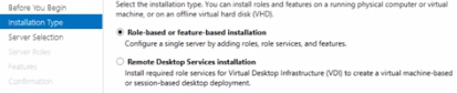 "In the Add Roles and Features Wizard select ""Roll-based or Feature-Based Installation"""