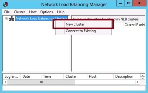 Create new NLB Cluster