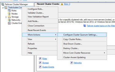 Open Failover Cluster Manager