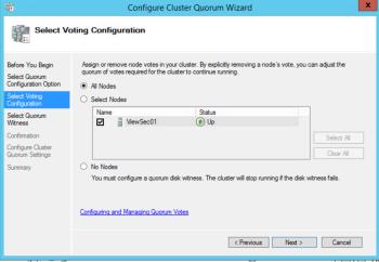 Microsoft 70-412 Certification Exam Blueprint Walkthrough Study Failover Cluster Manager Add Quorum