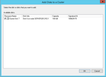 Microsoft 70-412 Certification Exam Blueprint Walkthrough Study Failover Cluster Manager Add Cluster Disk